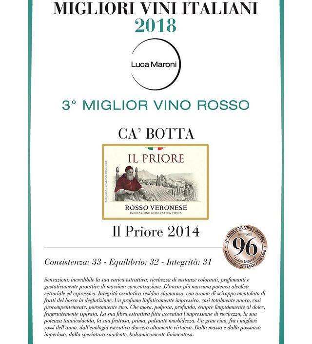 Oggi . Lazise  Il Priore IGT Veneto Rosso. 96/99.  Da assaggiare!
