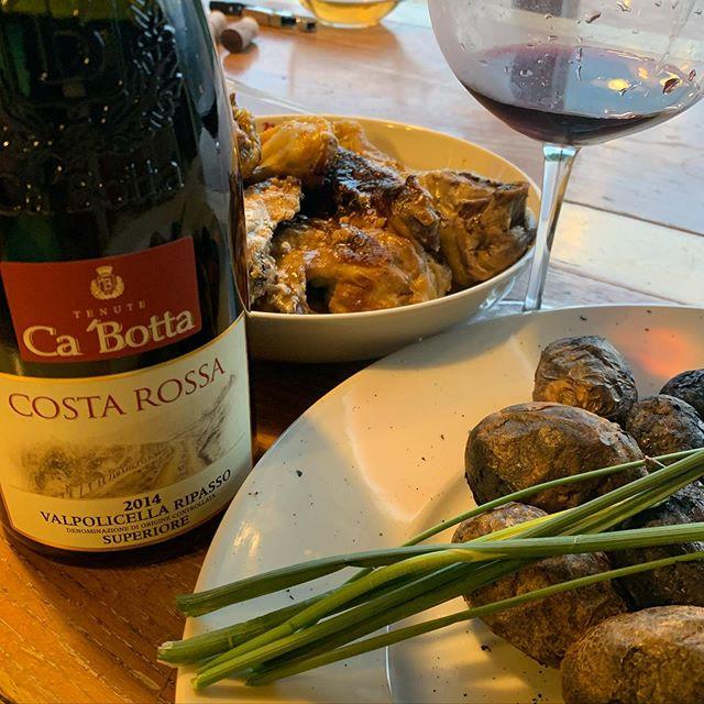 Cena di contadino con vino #cabotta
